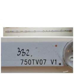 Listwa LED SONY 75W855 750TV07 V1 8 DIÓD
