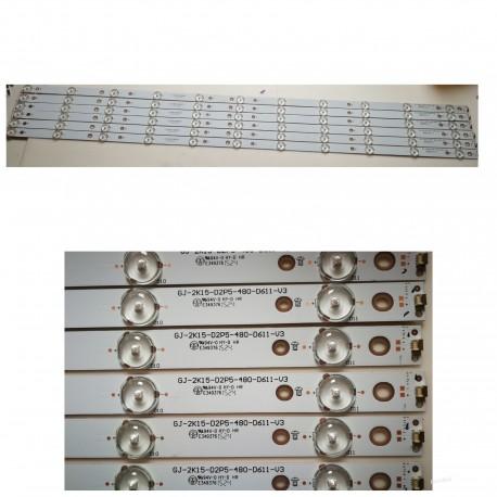 Listwa LED KOMPLET GJ-2K15-D2P5-480-D611-V3 TPV TPT480LS-HN08.S 11 DIÓD