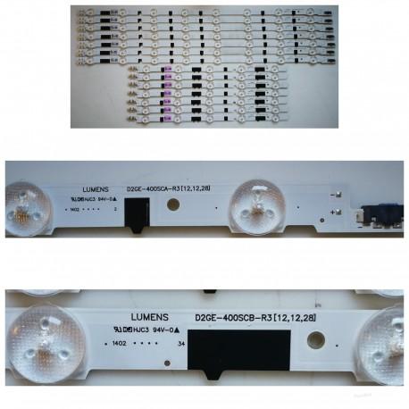 Listwa LED KOMPLET UE40F5000AW CY-HF400BGSV1H D2GE-400SCA-R3 + D2GE-400SCB-R3